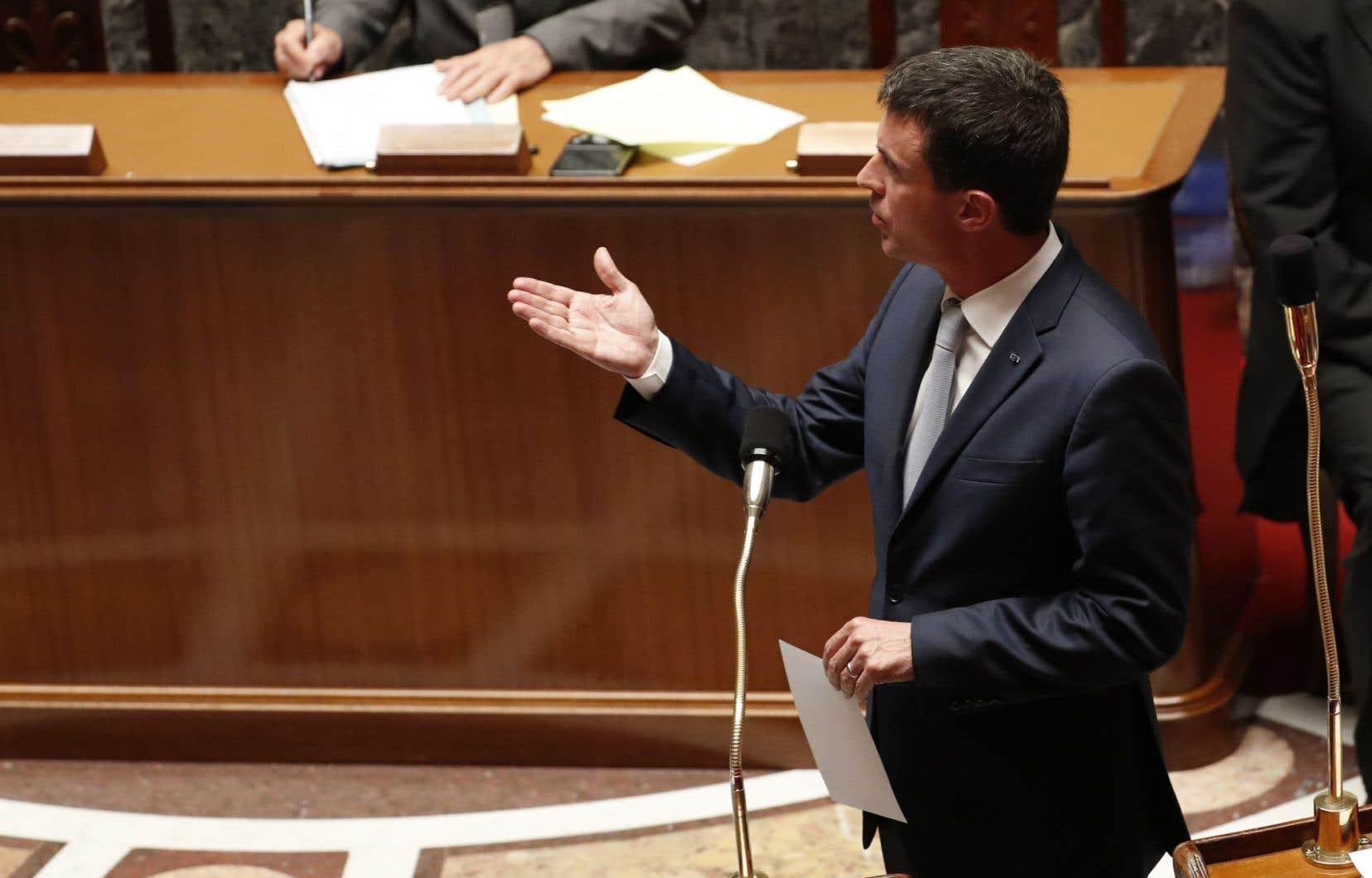 Le premier ministre socialiste, Manuel Valls
