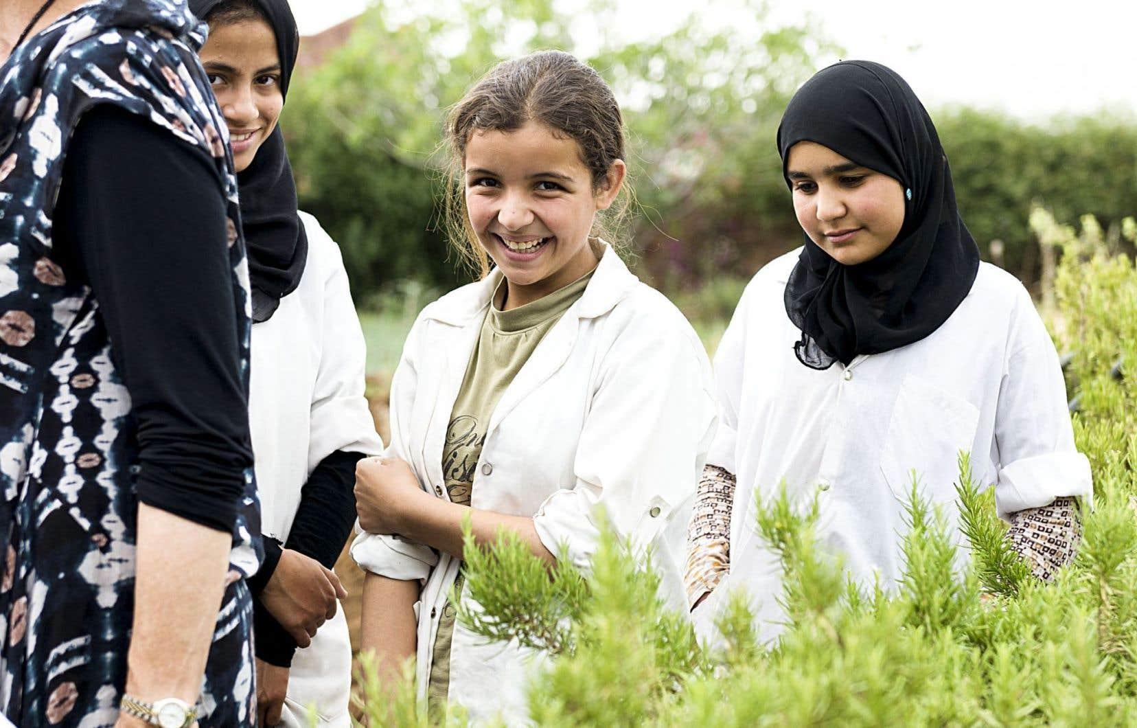 Le couvent Dar Taliba, situé au Maroc, fournit logement et éducation à des jeunes filles amazighes. Il y existait déjà un petit jardin de plantes aromatiques et Alain Cuerrier a eu le goût de pousser plus loin ce projet avec eux et de créer un jardin ethnobotanique.