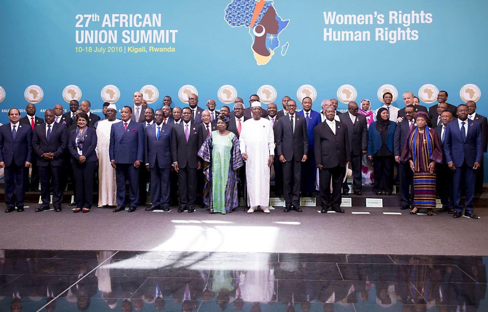 Les dirigeants africains étaient présents au sommet de Kigali.