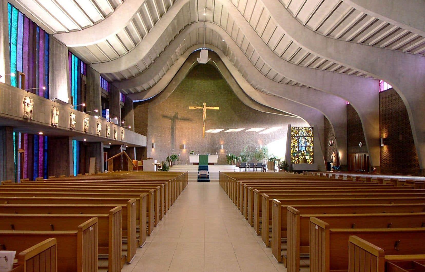 L'église Saint-Gérard-Majella, à Saint-Jean-sur-Richelieu, qualifiée de «bijou d'architecture moderne», était condamnée à la démolition en 2015.