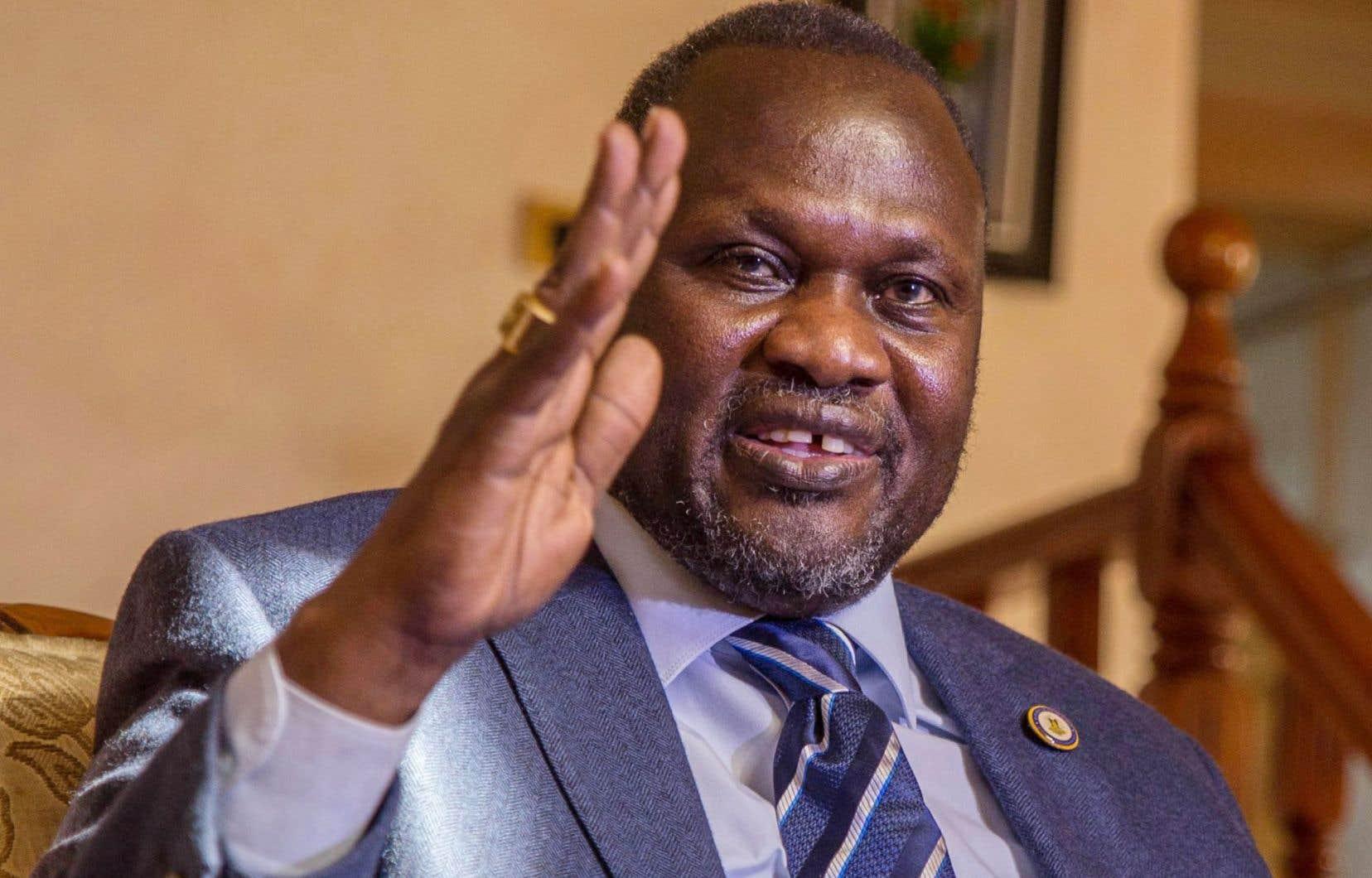 Le vice-président sud-soudanais et chef des ex-rebelles, Riek Machar