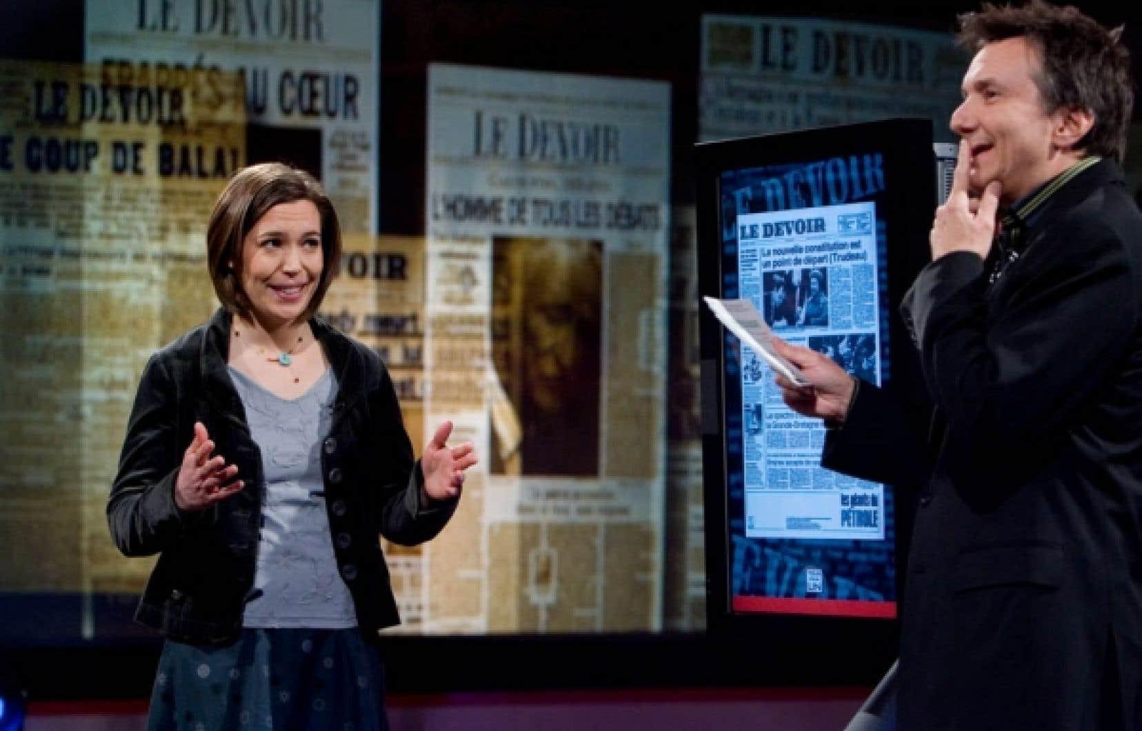 L'enseignante Marie-Christine Lalande a réussi avec brio l'épreuve de l'émission spéciale Tous pour un sur Le Devoir, animée par Francis Reddy.