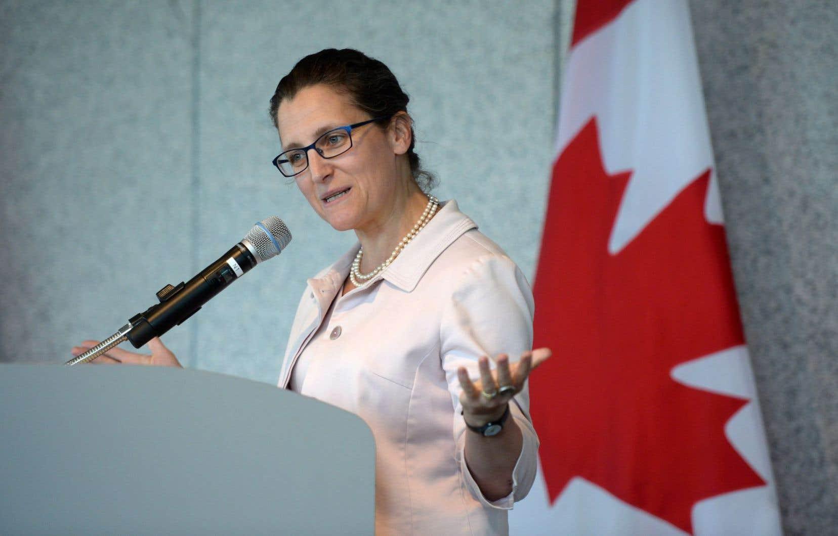 La ministre canadienne du Commerce international, Chrystia Freeland