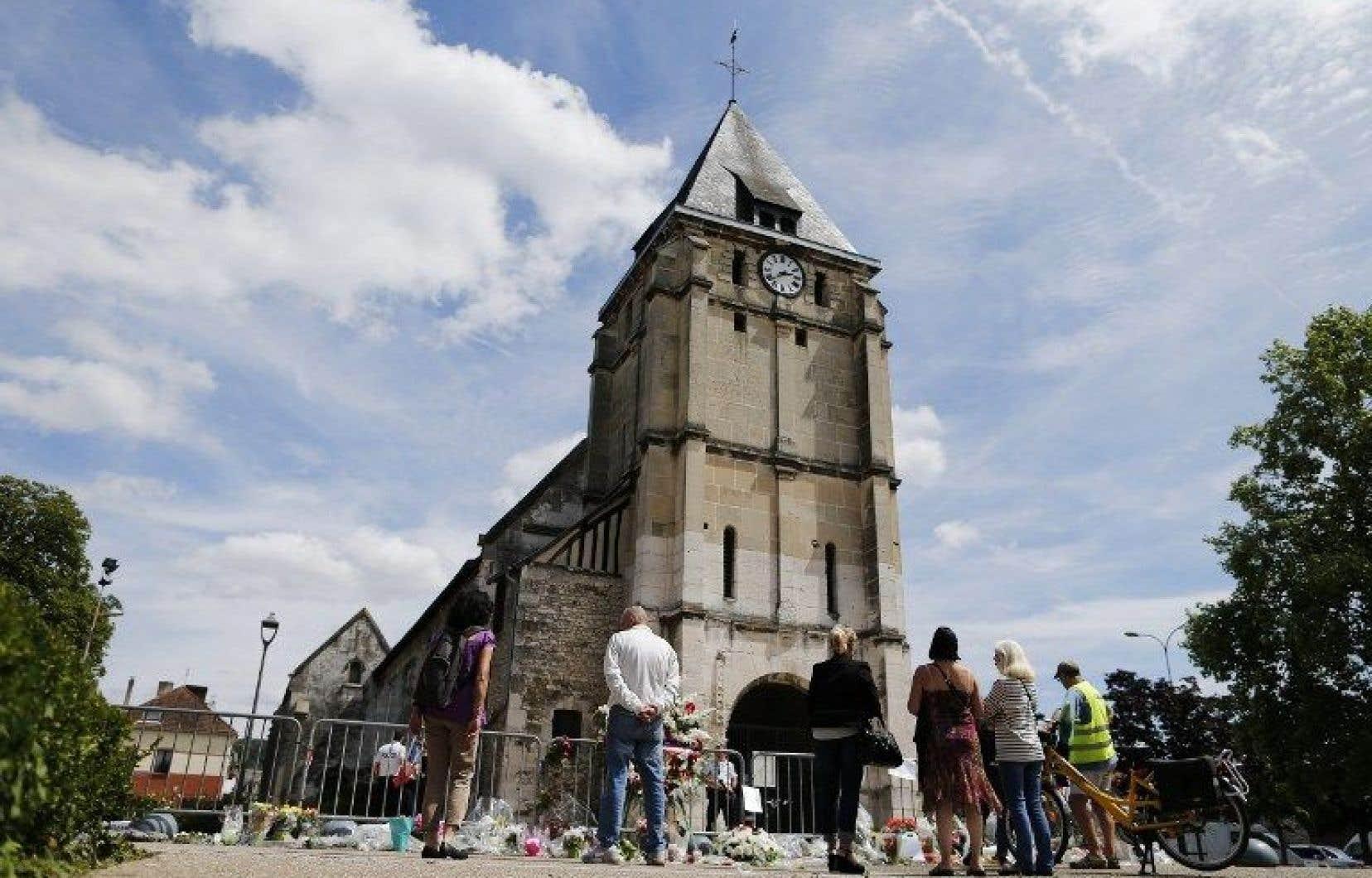L'église de Saint-Etienne-du-Rouvray où le prêtre Jacques Hamel a été assassiné