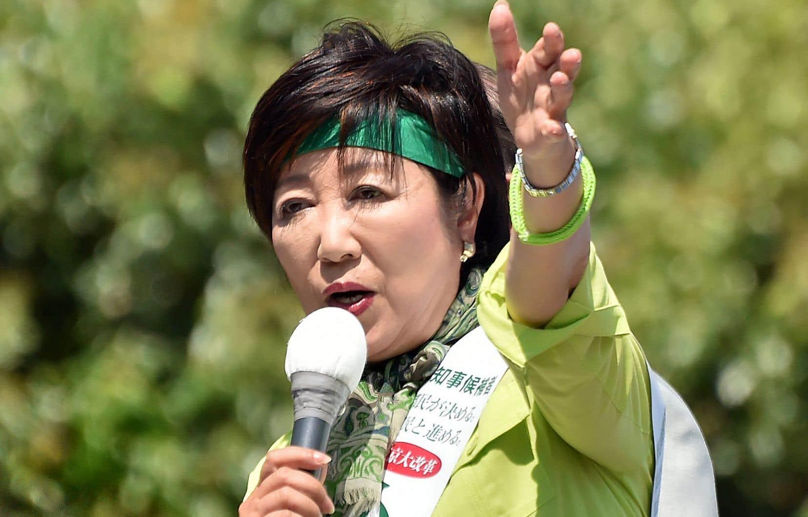 Yuriko Koike a été élue gouverneure de Tokyo.