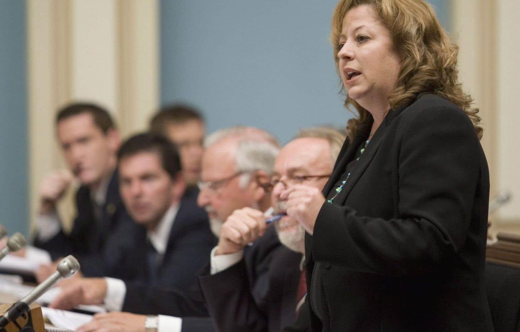 Sylvie Roy, photographiée en 2009, alors qu'elle occupait le poste de chef intérimaire de feu l'Action démocratique du Québec.