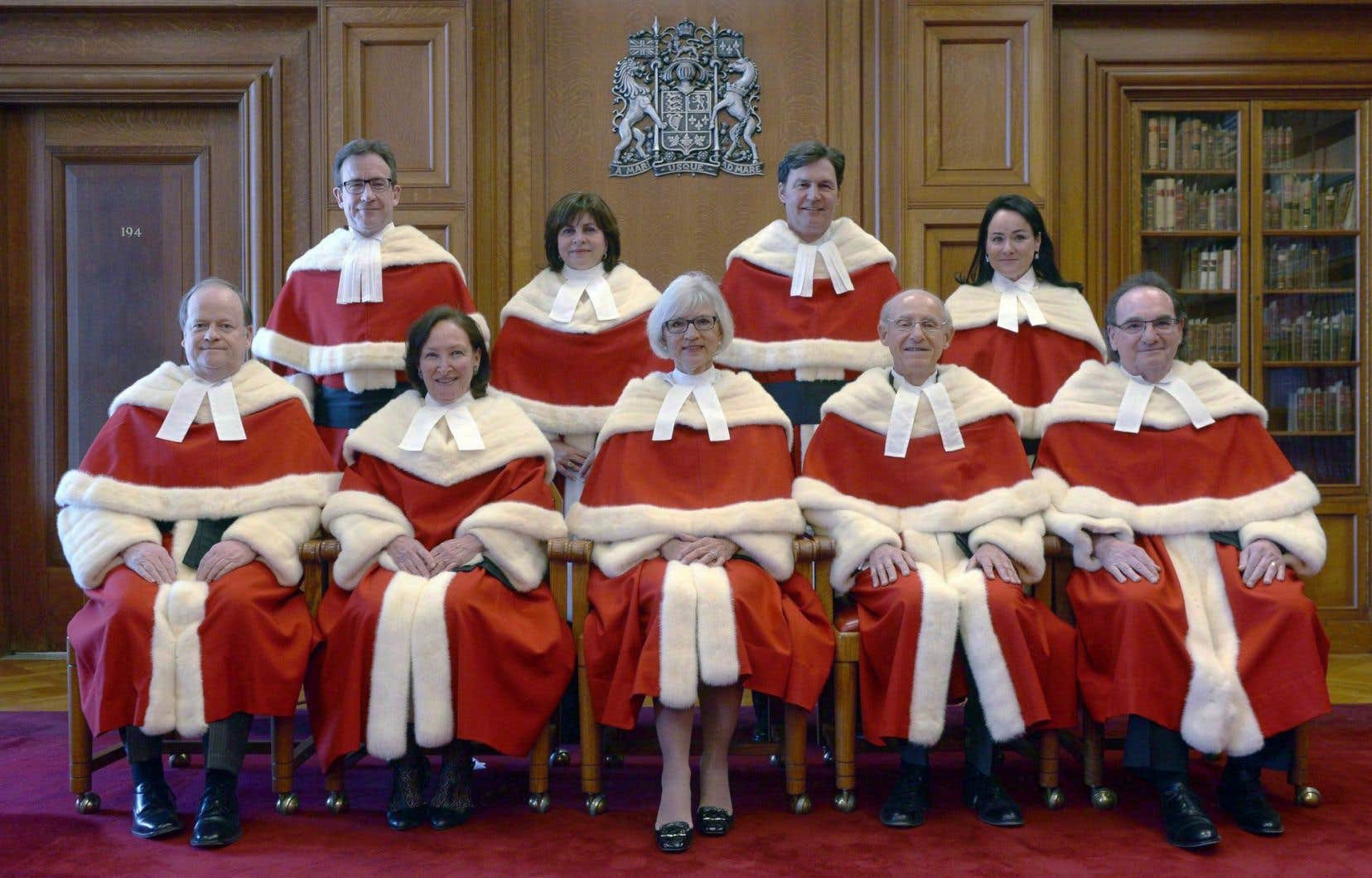 Le juge qui représente les Maritimes, Albert Cromwell (première rangée à gauche), sera remplacé cet automne. Mais rien dans le nouveau processus ne garantit un représentant des provinces atlantiques.