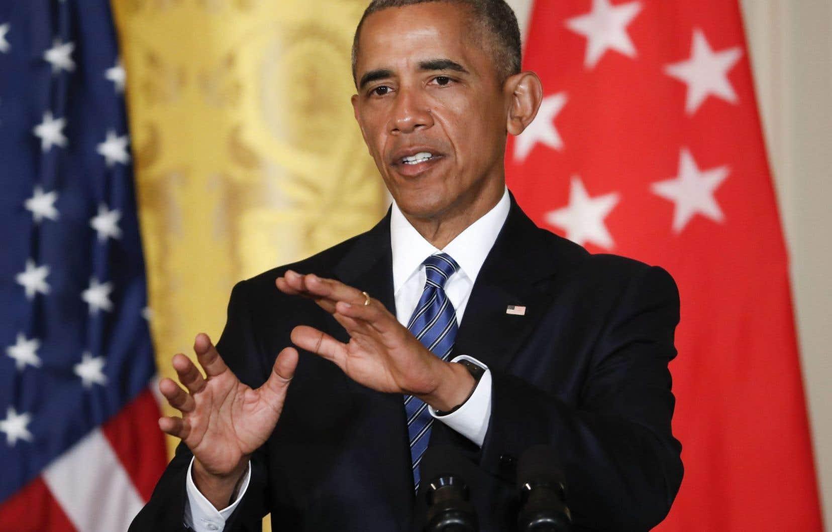 Lors d'une conférence de presse, mardi à Washington, le président américain a soutenu qu'il avait bon espoir de faire adopter le traité de libre-échange par le Congrès pendant les deux mois de « session interrégime » de fin d'année électorale.