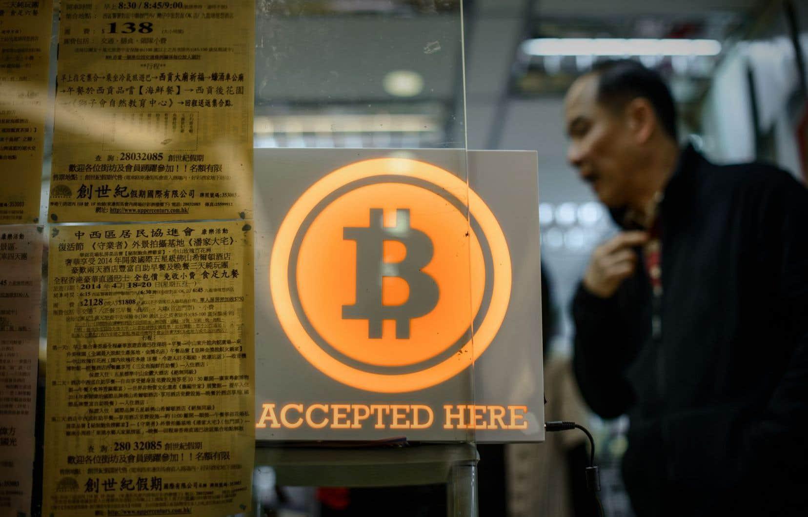 Mercredi, la valeur de la monnaie numérique a dégringolé jusqu'à 482,82 $, contre 603,06$ mardi, selon Bloomberg News, avant de remonter mercredi après-midi à 539,53$.