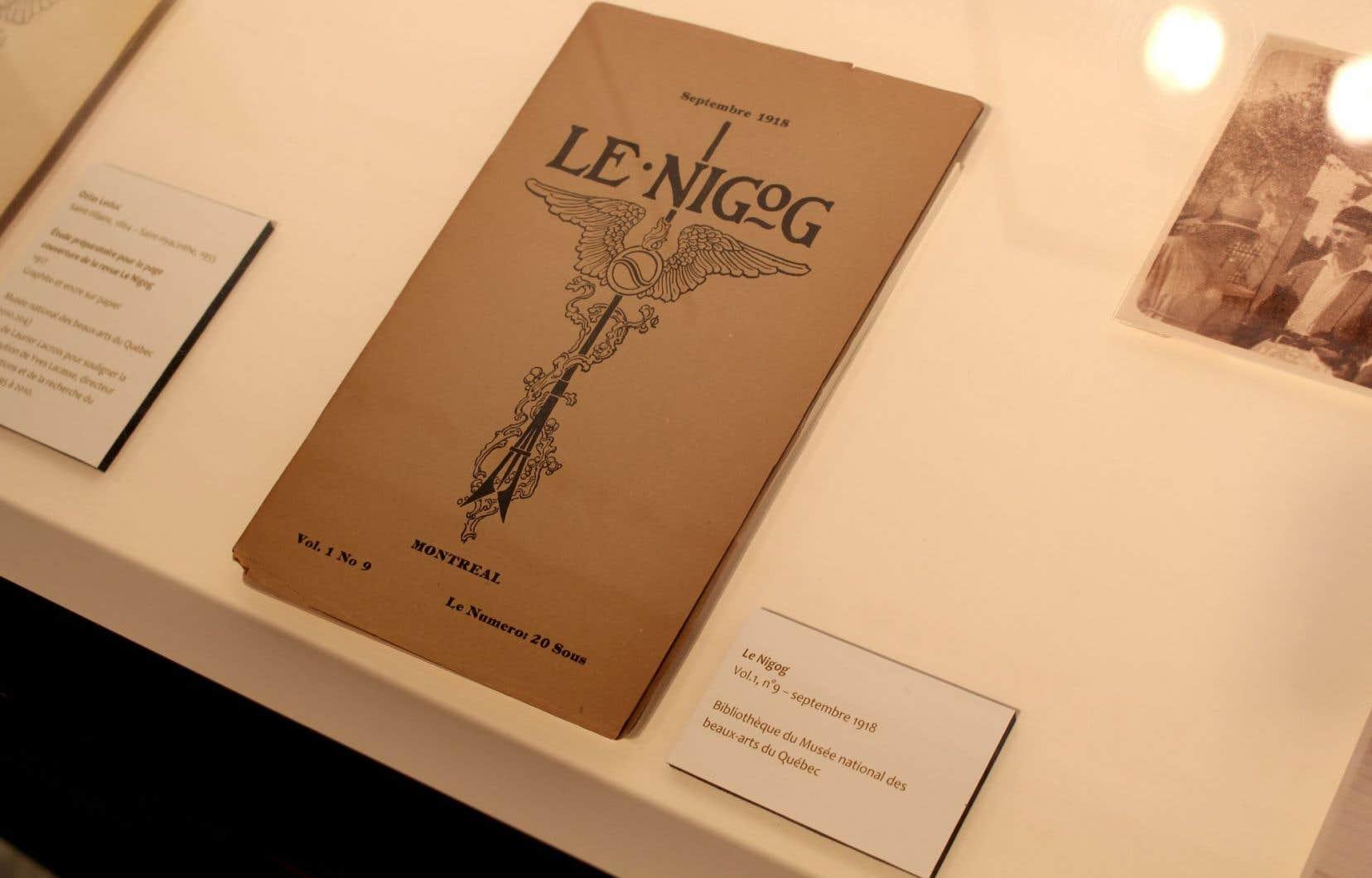 Couverture de la revue «Le Nigog» conçue par Ozias Leduc