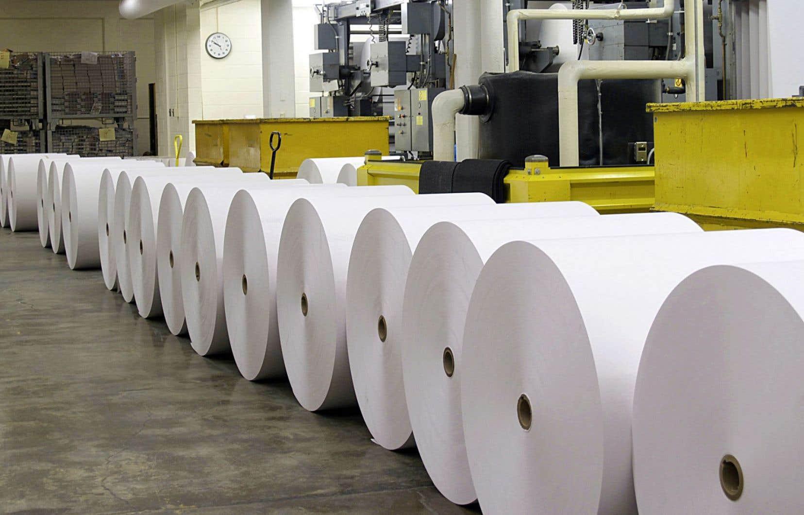 La réduction de la demande pour le papier journal a amené Resolu à se tourner vers le papier tissu.