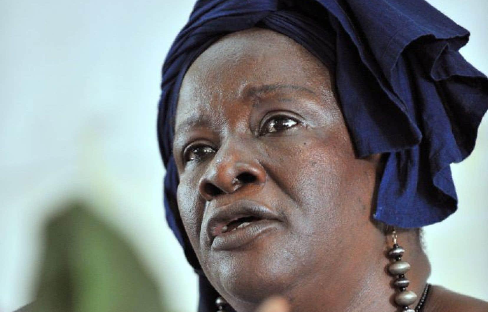 L'ex-ministre malienne et militante altermondialiste Aminata Traoré a un passeport diplomatique.