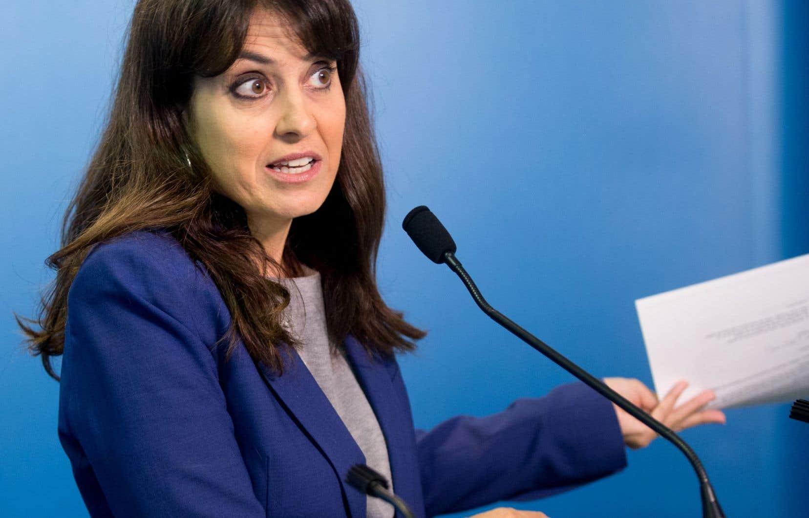 La candidate à la chefferie du PQ Véronique Hivon