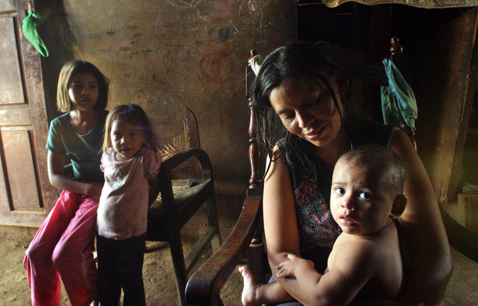 Une famille pauvre de Managua, au Nicaragua