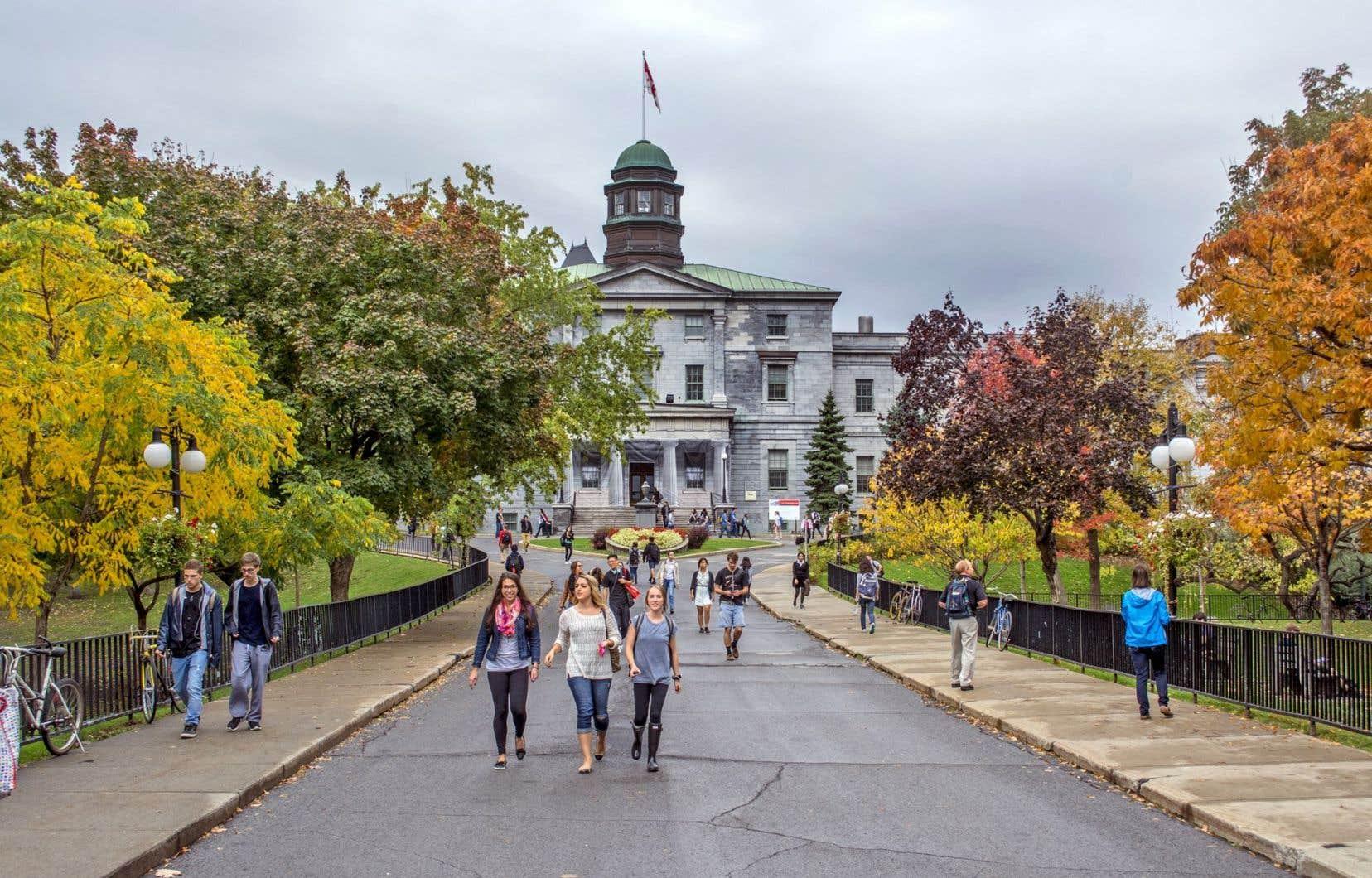 L'Université McGill, le seul établissement québécois dans le Classement académique des universités mondiales, arrive en 63eplace sur la liste.