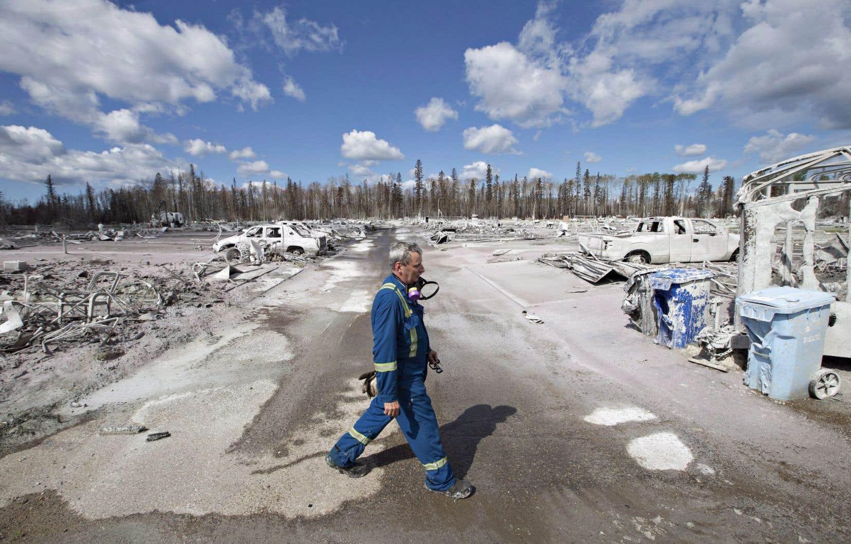 Plus de 80 000 résidants de Fort McMurray ont dû être évacués lorsqu'un incendie de forêt a ravagé la ville en mai.