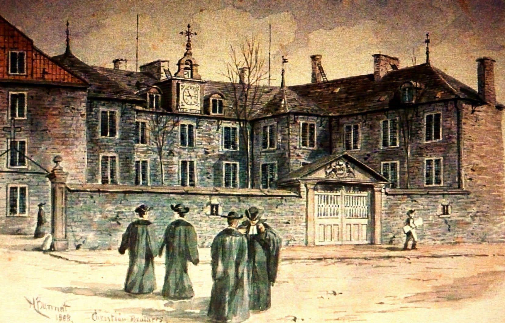 Montréal a été le théâtre «d'innovations» religieuses. Les sulpiciens, qui ont fondé le séminaire de la rue Notre-Dame (ci-dessus sur une gravure de Henry Richard S. Bunnett, 1888), avaient un mode de cohabitation inédit.