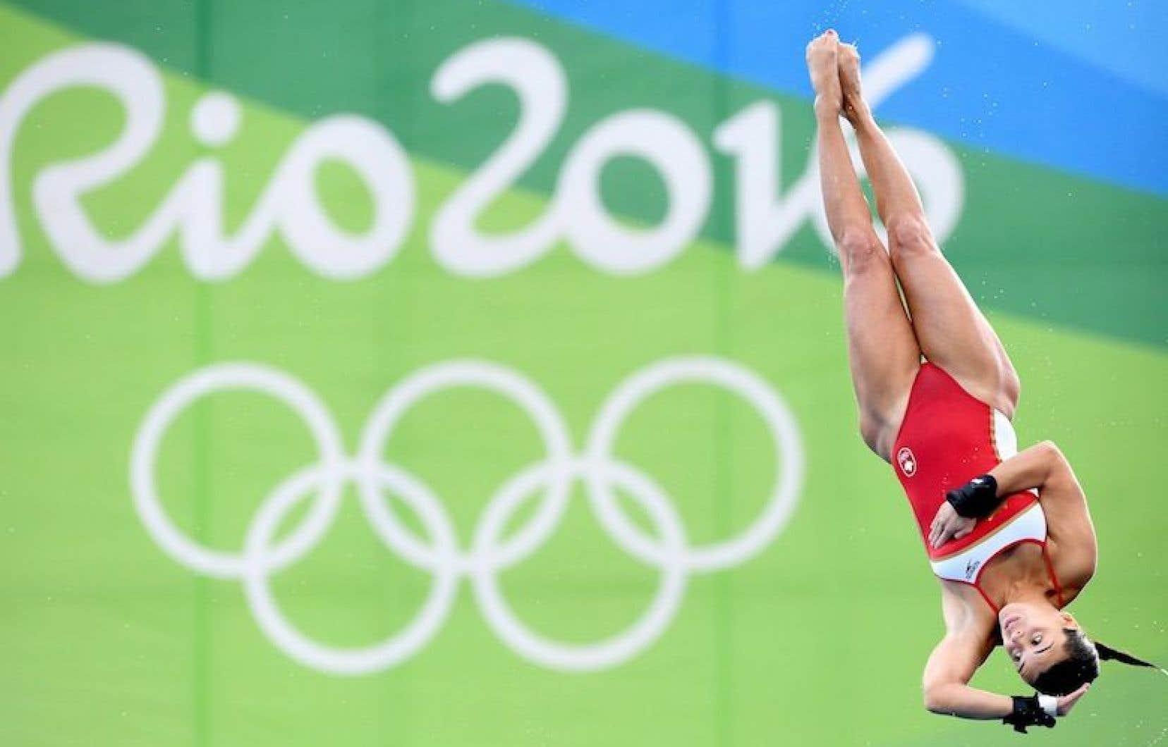 La plongeuse québécoise Meaghan Benfeito s'est mérité la médaille de bronze à la plateforme de 10 mètres aux Jeux olympiques de Rio.