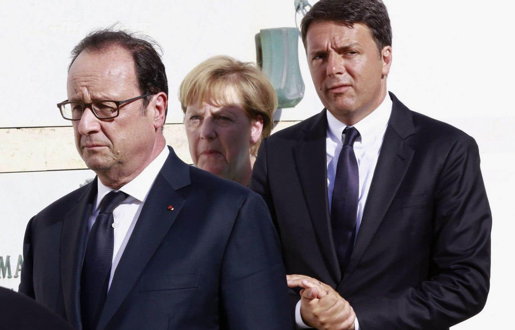 François Hollande,Angela Merkelet Matteo Renzi veulent donner une nouvelle impulsion à l'Europe post-Brexit.