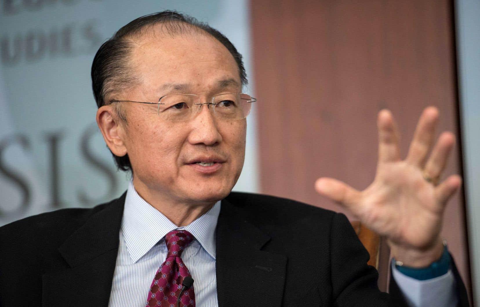 L'actuel président de la Banque mondiale, Jim Yong Kim