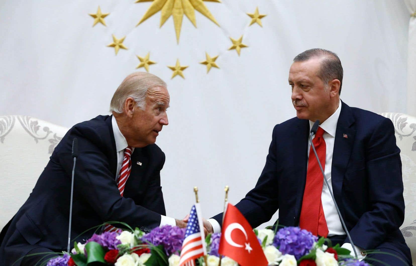Joe Biden en réunion avecRecep Tayyip Erdogan le 24 août dernier