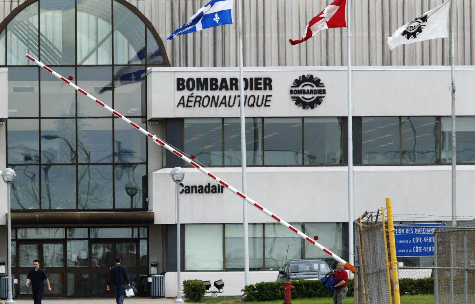 Les installations de Bombardier à Dorval