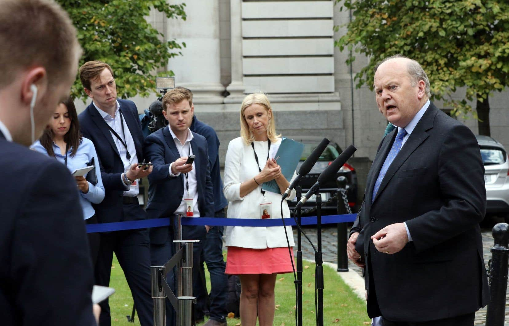 Le ministre des Finances irlandais, Michael Noonan