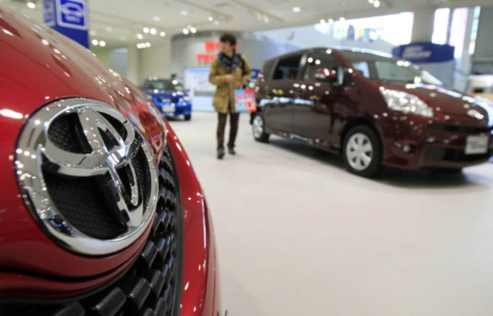Les modèles retirés temporairement des vitrines des concessionnaires représentaient pas moins de 70 % des ventes de Toyota aux États-Unis, son plus gros marché.