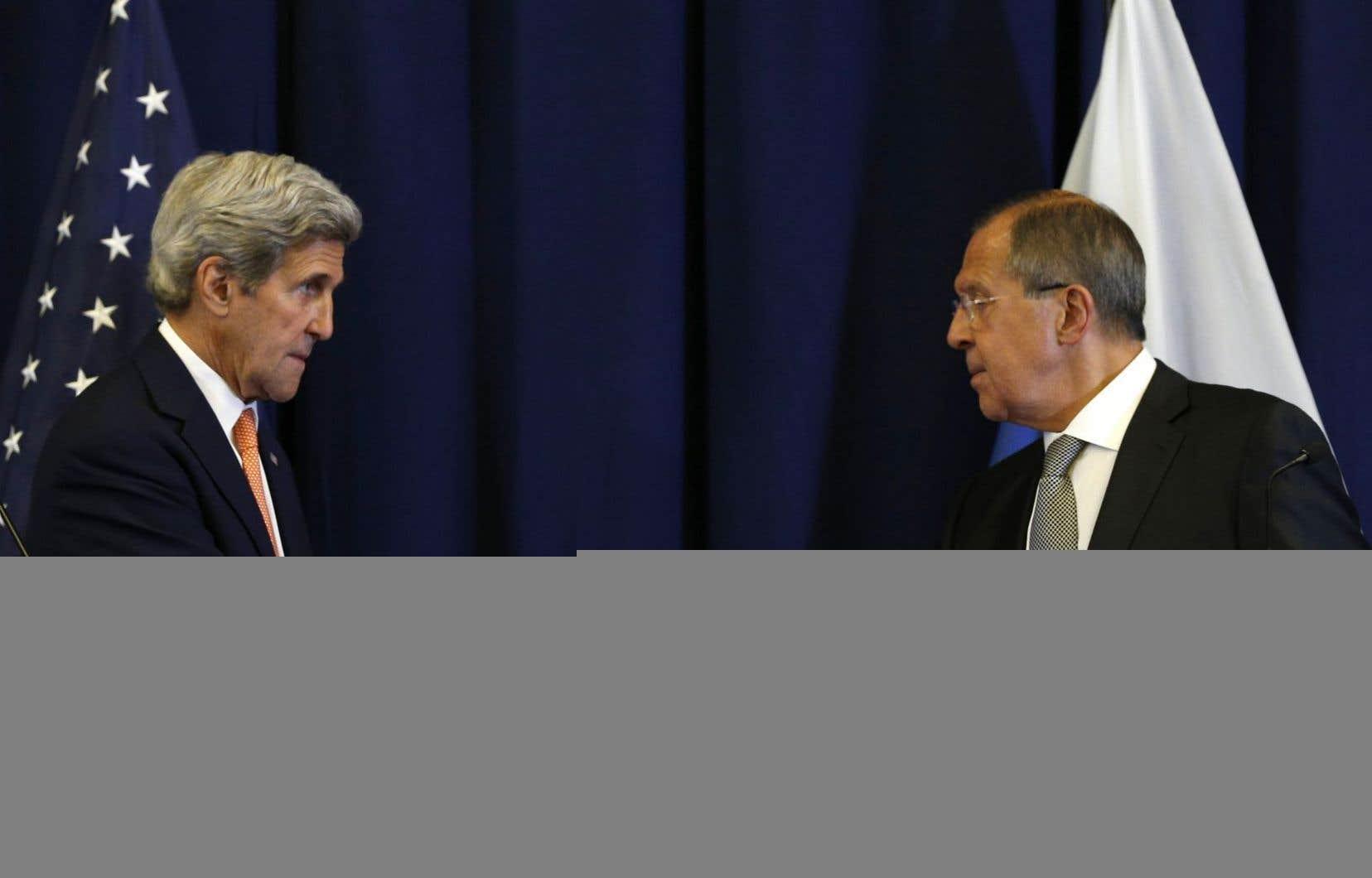 John Kerry et Sergei Lavrov, les chefs de la diplomatie américaine et russe