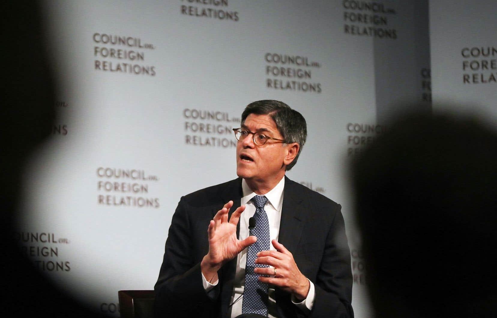 Le secrétaire américain au Trésor, Jack Lew