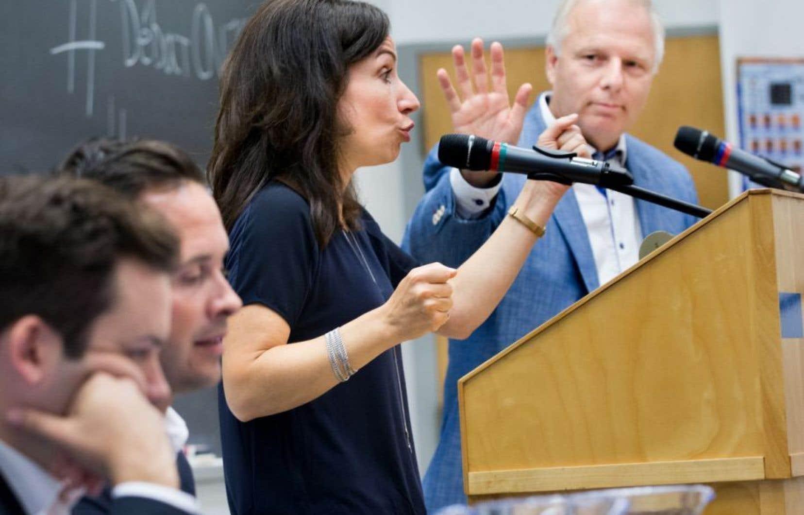 Les quatre candidats à la course à la chefferie du Parti québécois, Paul St-Pierre Plamondon, Alexandre Cloutier, Martine Ouellet et Jean-François Lisée