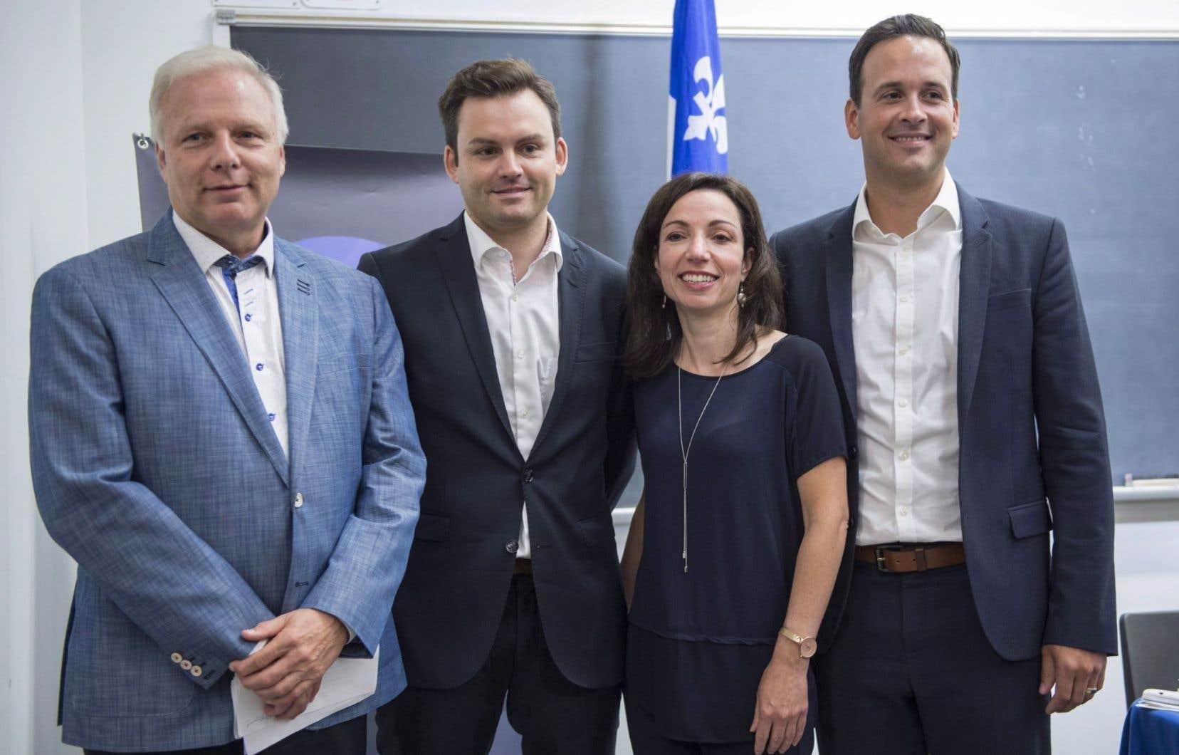 <p>À plusieurs reprises Alexandre Cloutier, Jean-François Lisée, Martine Ouellet et Paul Saint-Pierre Plamondon ont souligné les ressemblances dans leurs propositions.</p>