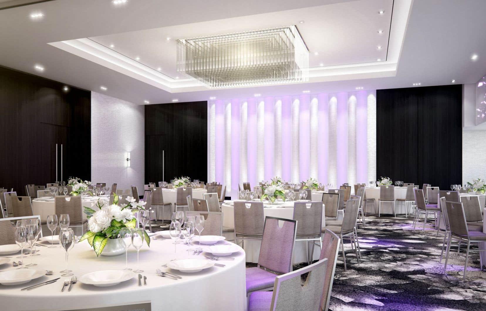 La nouvelle salle de bal de l'hôtel