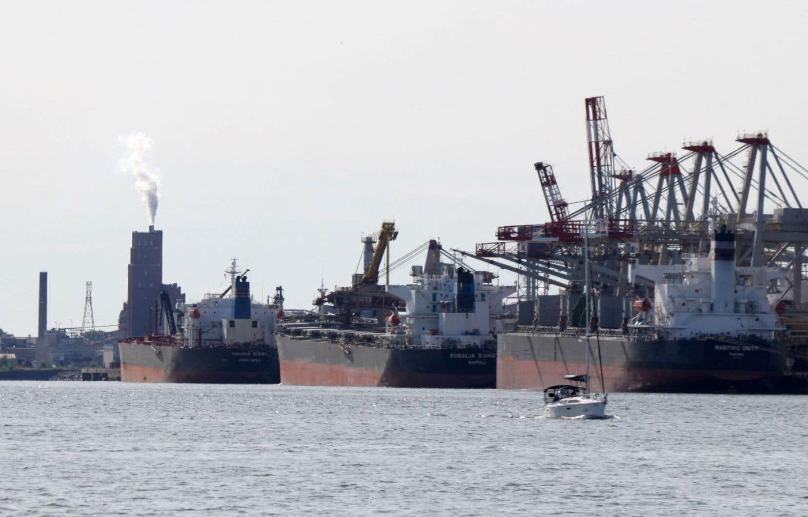 Le port de Québec