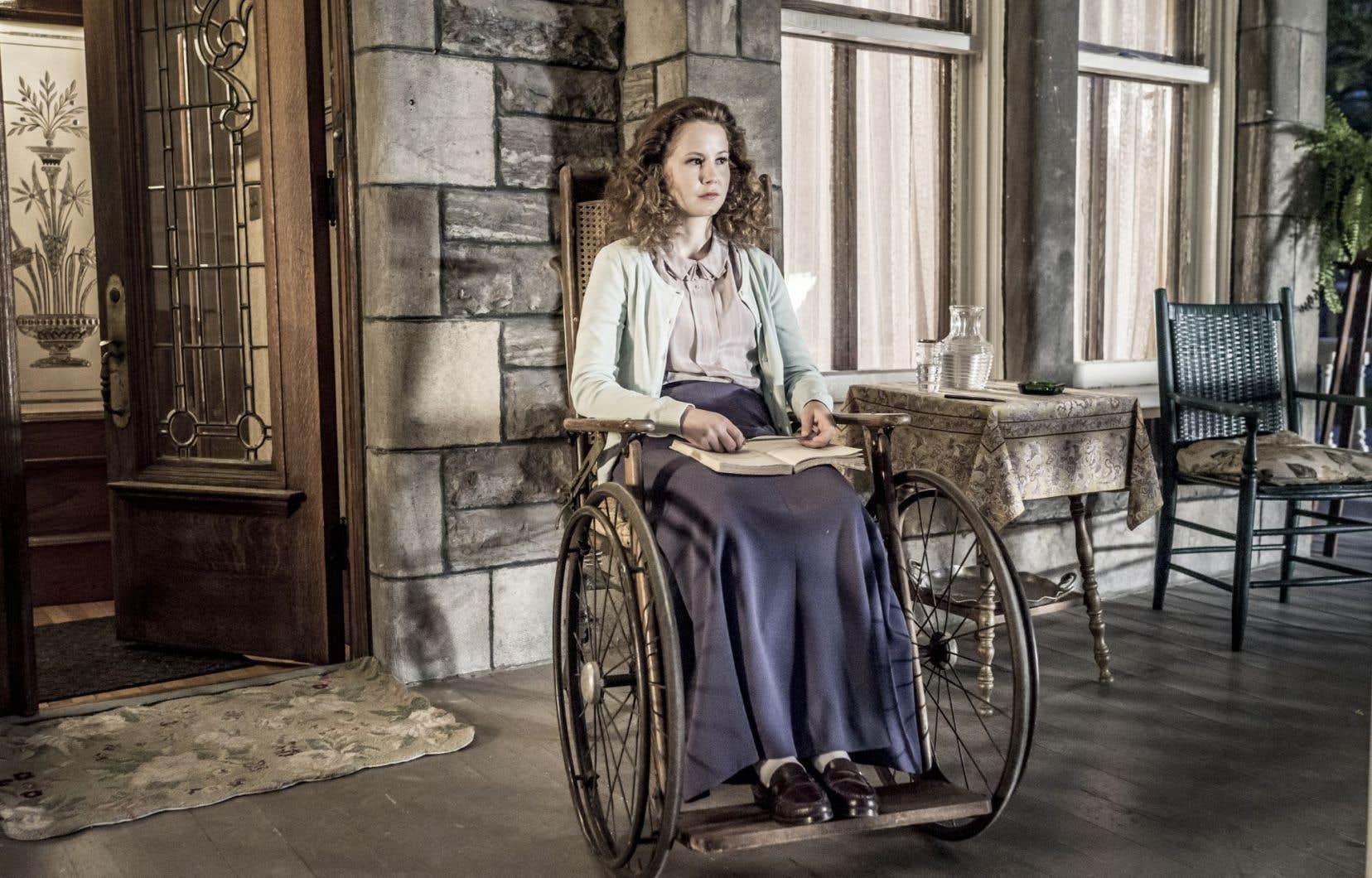 Juliette Gosselin joue Berthe, la sœur handicapée de Pierre, le personnage qui porte le film sur ses épaules.
