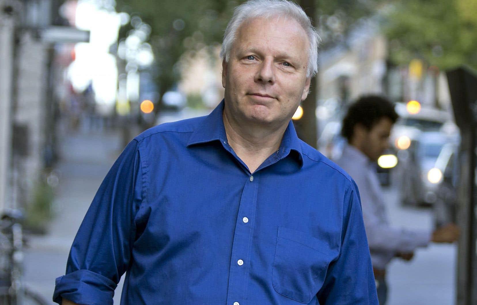 Jean-François Lisée était de passage dans les bureaux du «Devoir» vendredi.