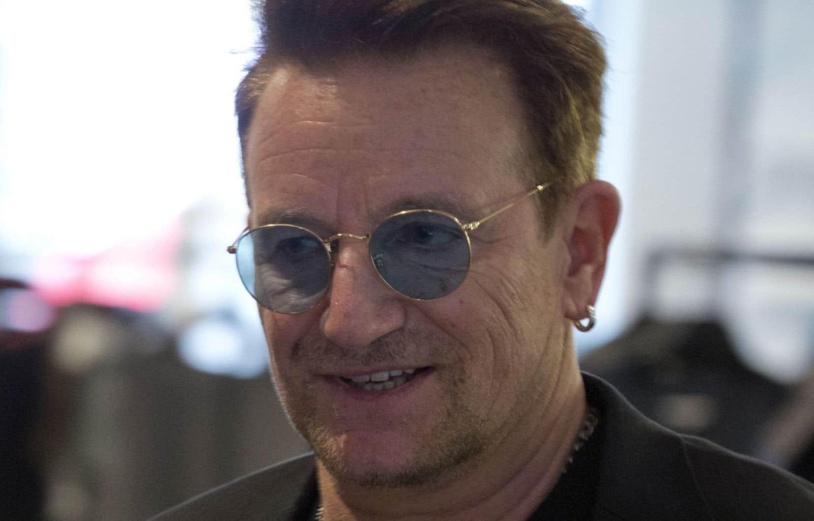 Bono a livré un discours, samedi matin, à l'occasion de la cinquième conférence du Fonds mondial de lutte contre le sida, la tuberculose et le paludisme.