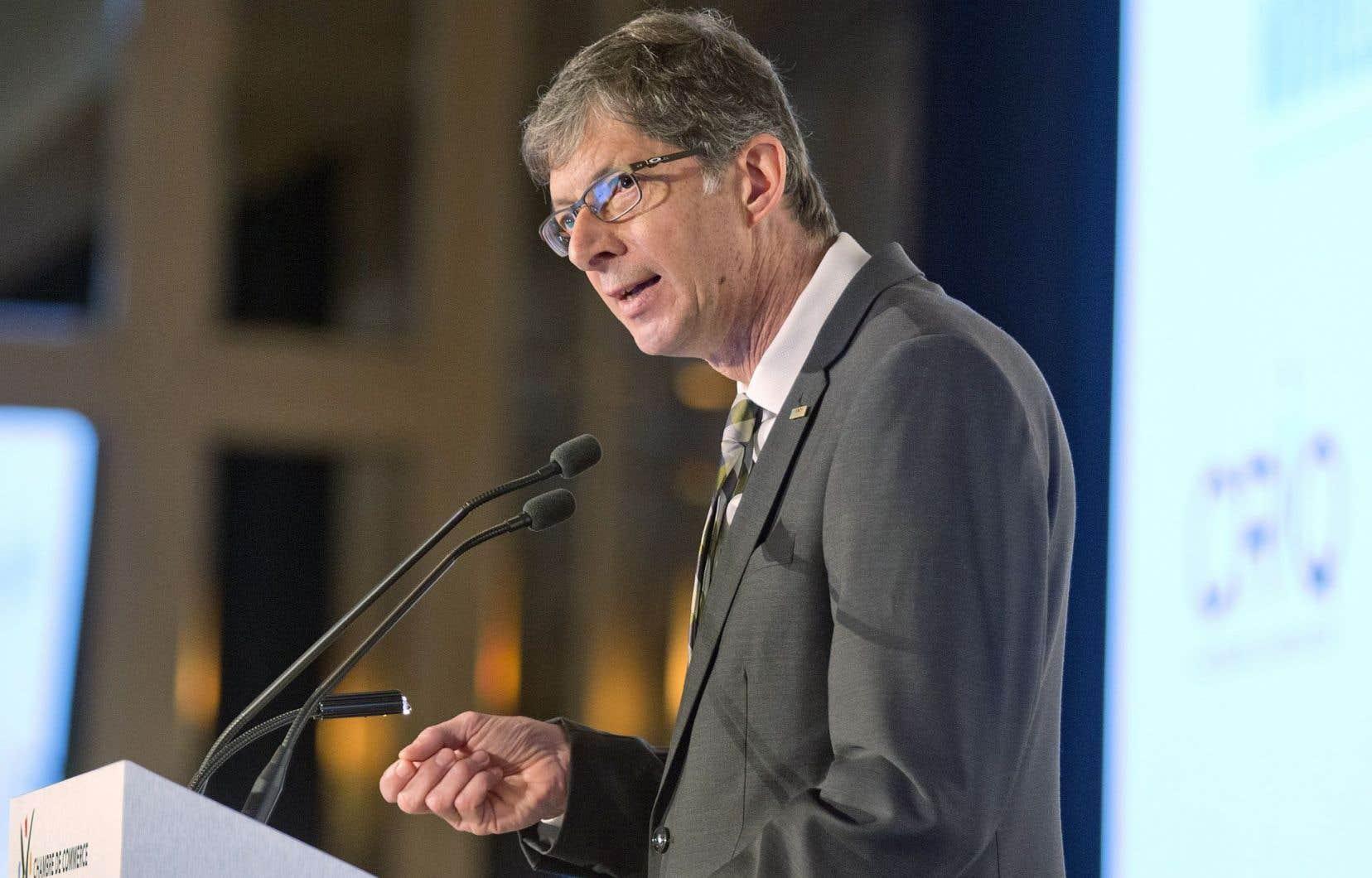Le président et chef de la direction du Fonds de solidarité FTQ, Gaétan Morin