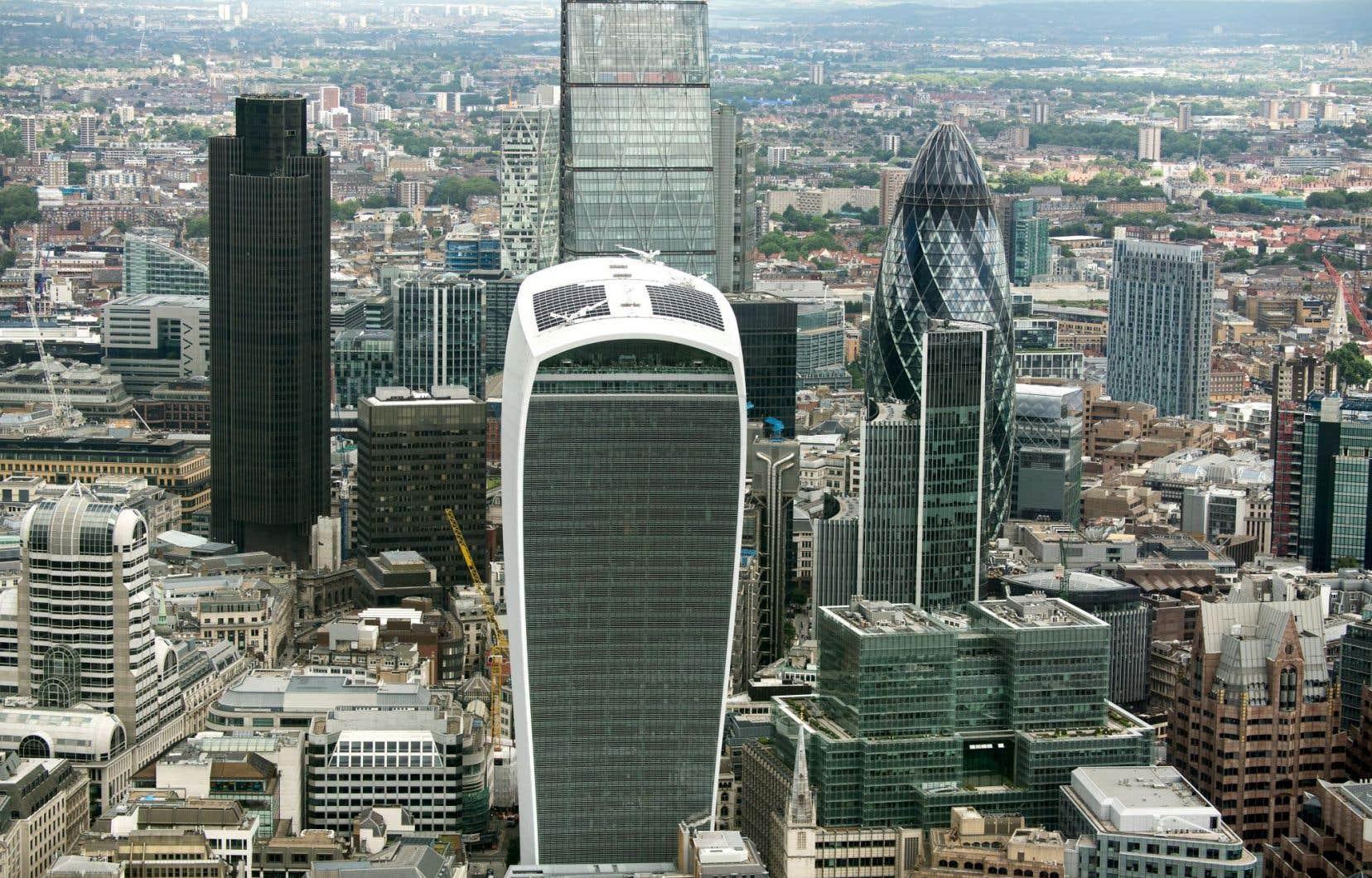 Le quartier financier de Londres