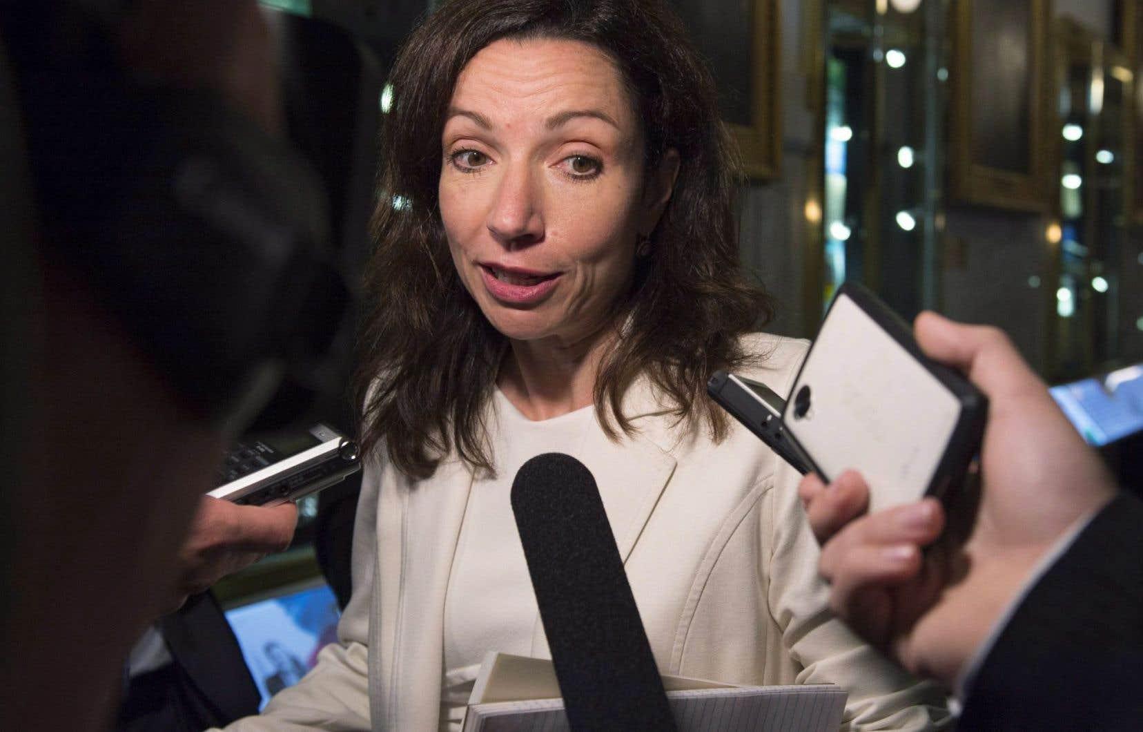 La candidate à la direction du Parti québécois Martine Ouellet
