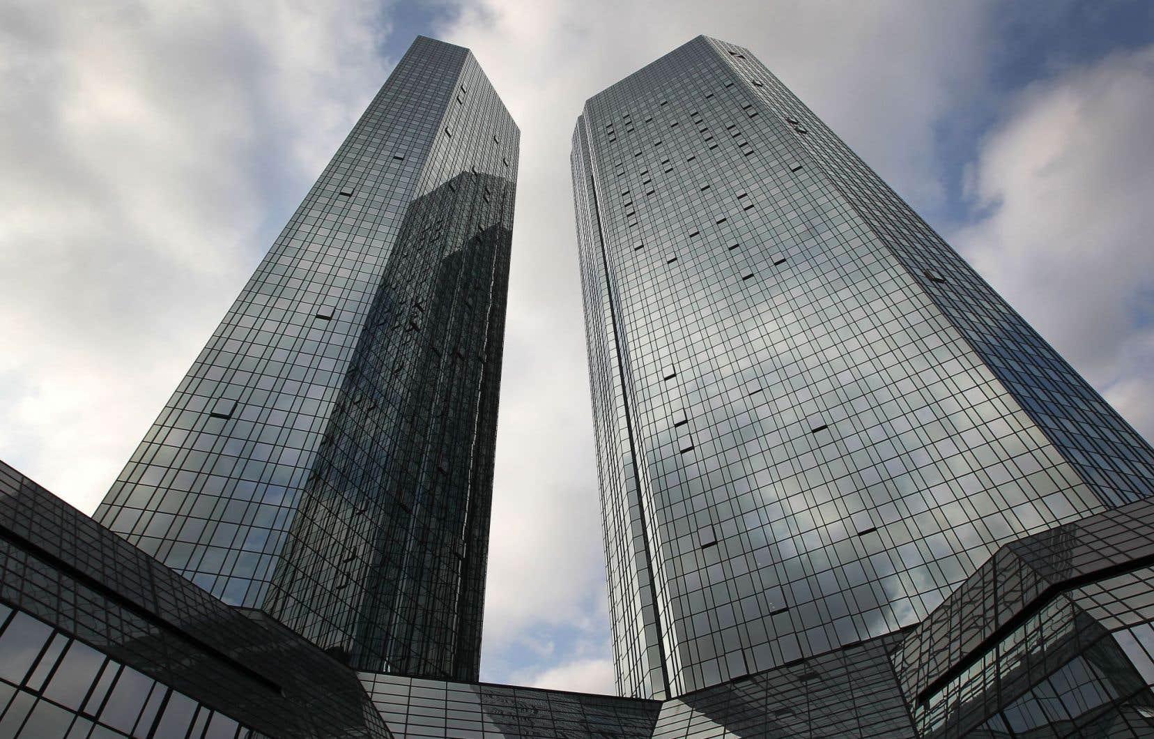 Le siège social de la Deutsche Bank à Francfort