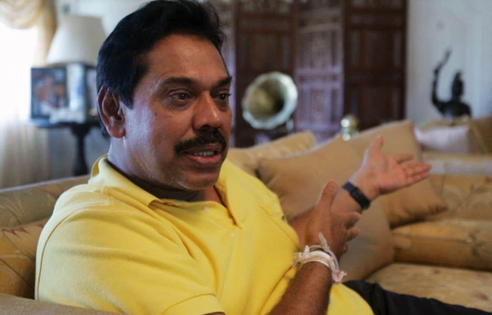 Le président sri-lankais, Mahinda Rajapaksa