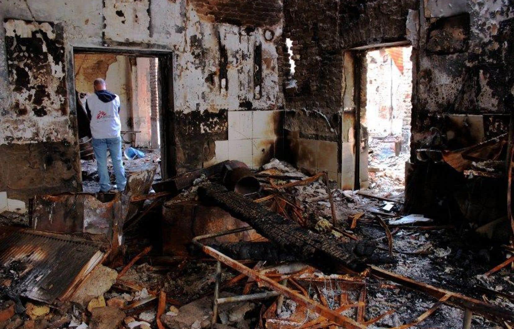 Un bombardement américain sur l'hôpital de Kunduz, le 3 octobre 2015, a fait 42 morts dont 14 personnels de santé.
