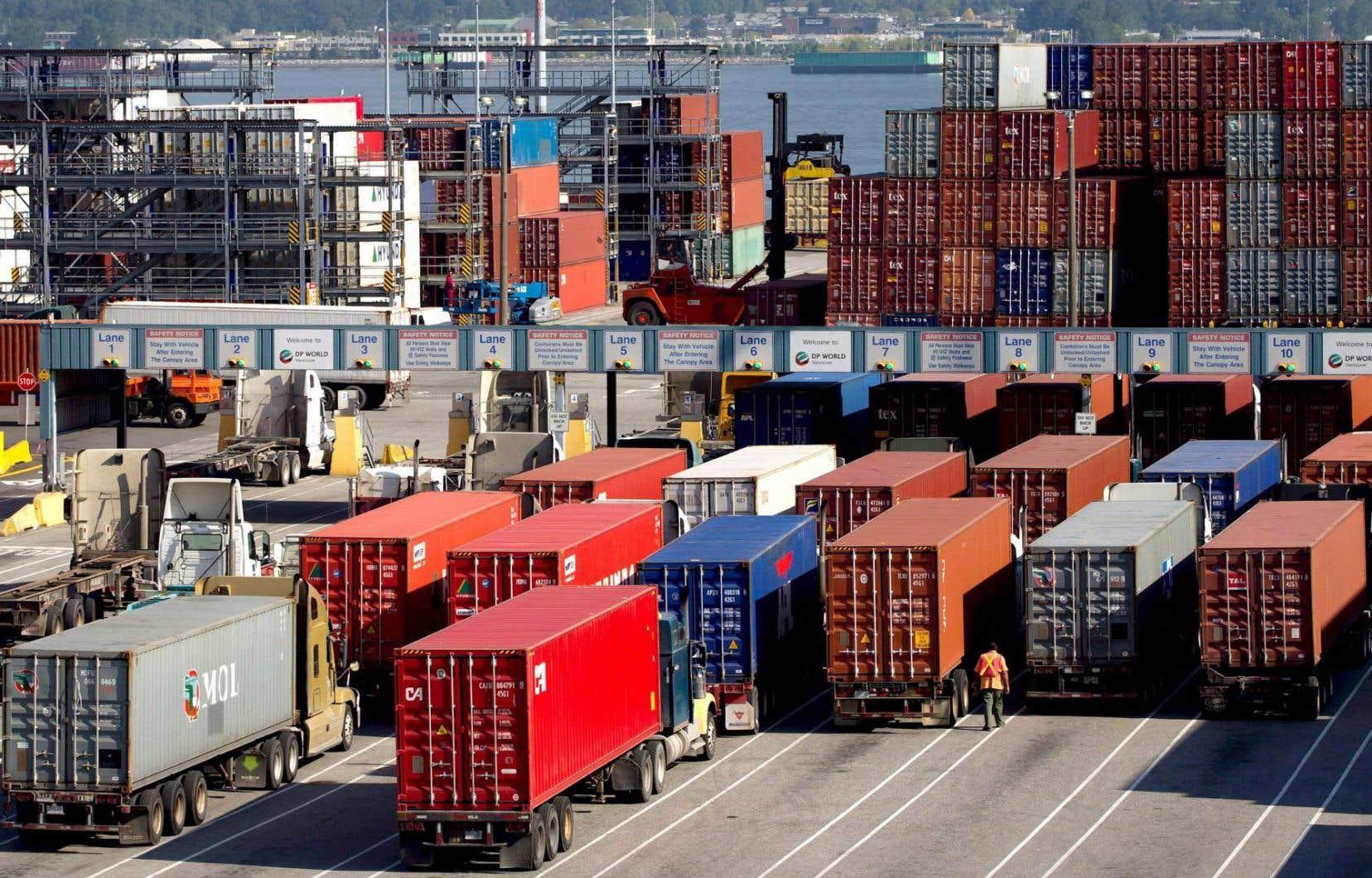 Les exportations canadiennes à destination de pays autres que les États-Unis ont augmenté de 7,7 % pour se situer à 11 milliards en août.