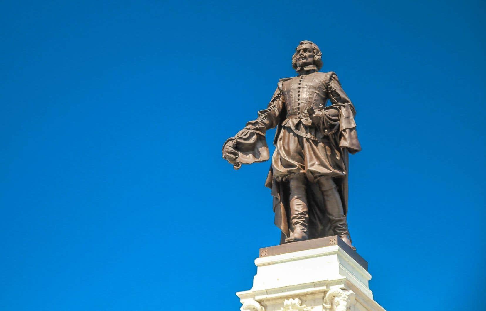 La statue de Samuel De Champlain à Québec. Les états généraux sur les commémorations se poursuivent jusqu'au 8 octobre.