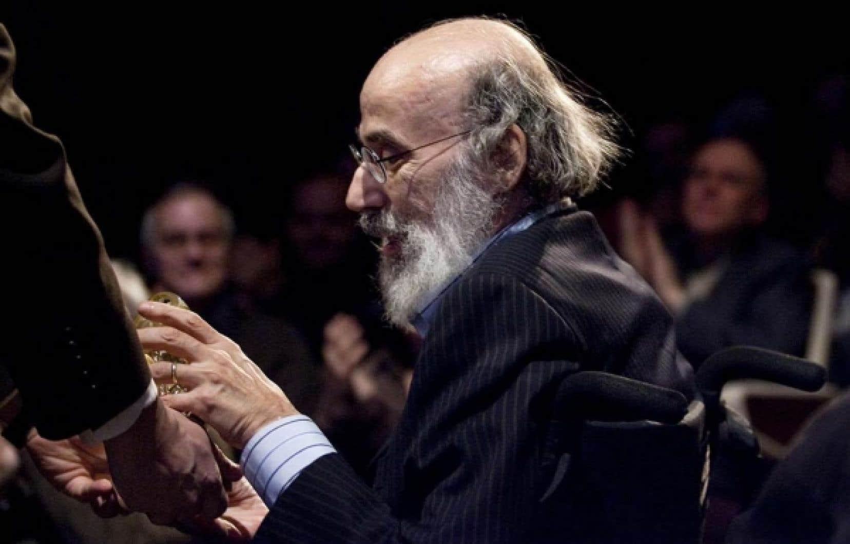 Le compositeur Jacques Hétu lors de la remise des Prix Opus à la fin janvier