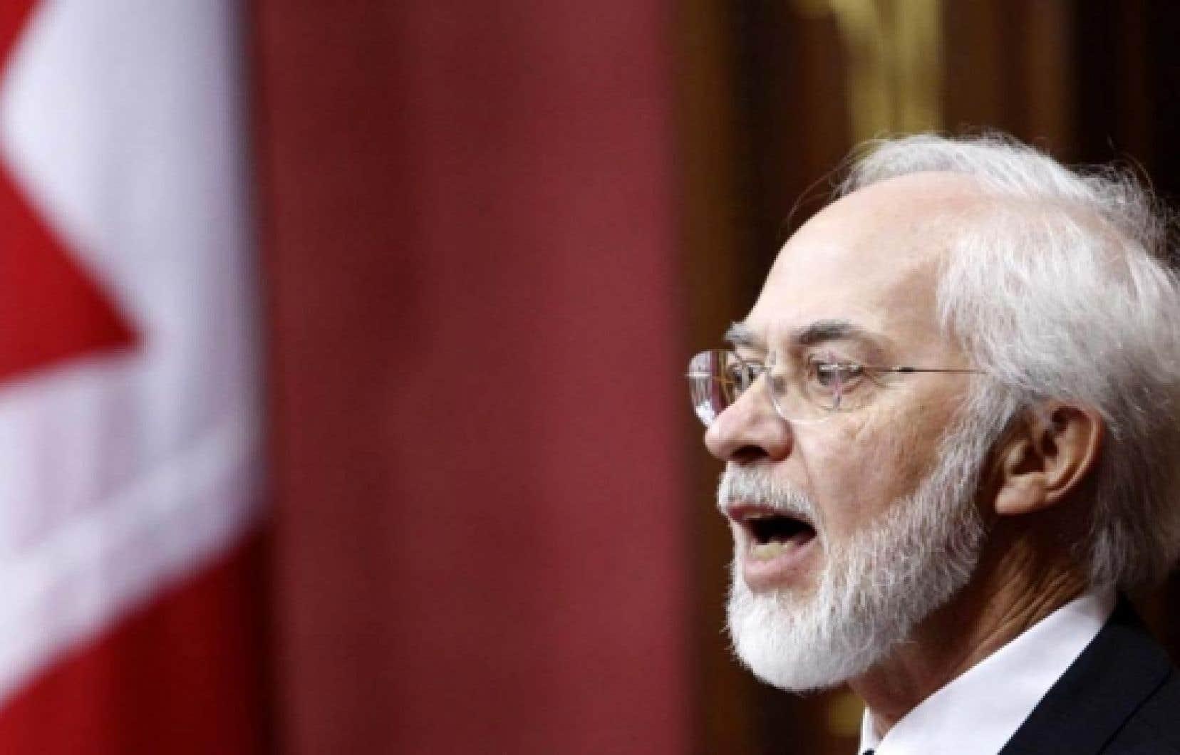 Le lieutenant-gouverneur du Québec, Pierre Duchesne