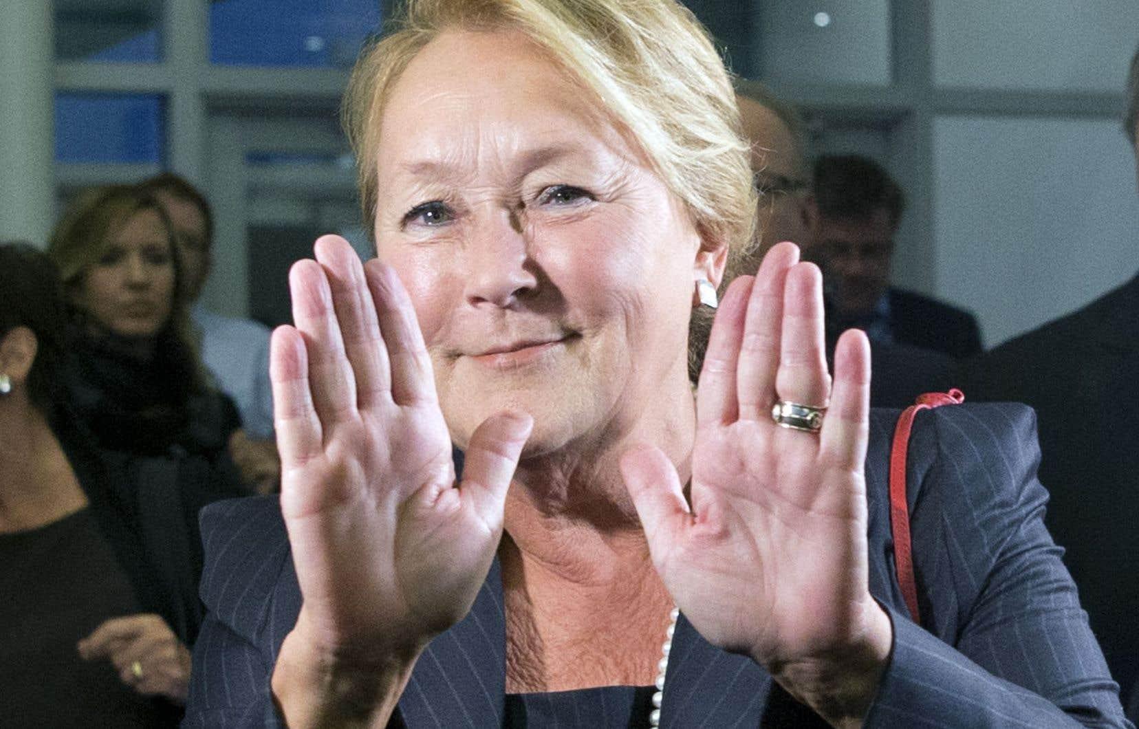 Pauline Marois, présente au Centre des congrès de Lévis, a dit ne pas être inquiète pour l'unité du parti.
