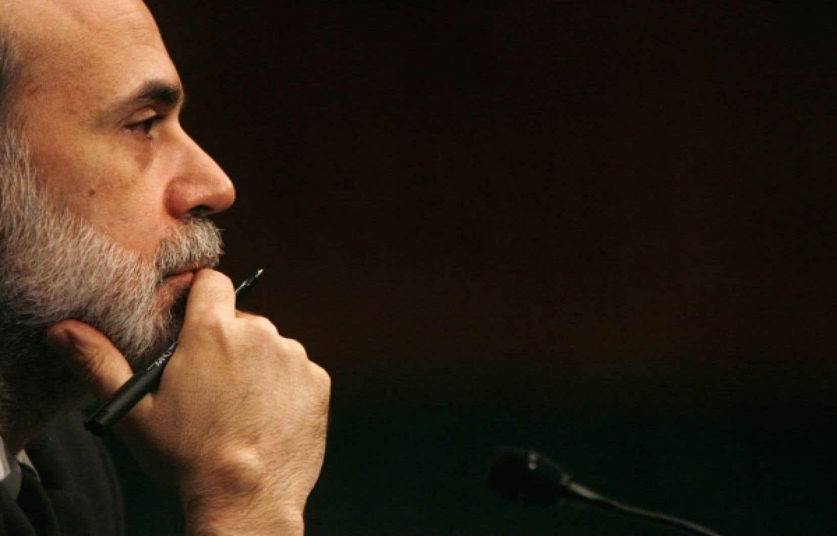 Le président de la Réserve fédérale américaine, Ben Bernanke