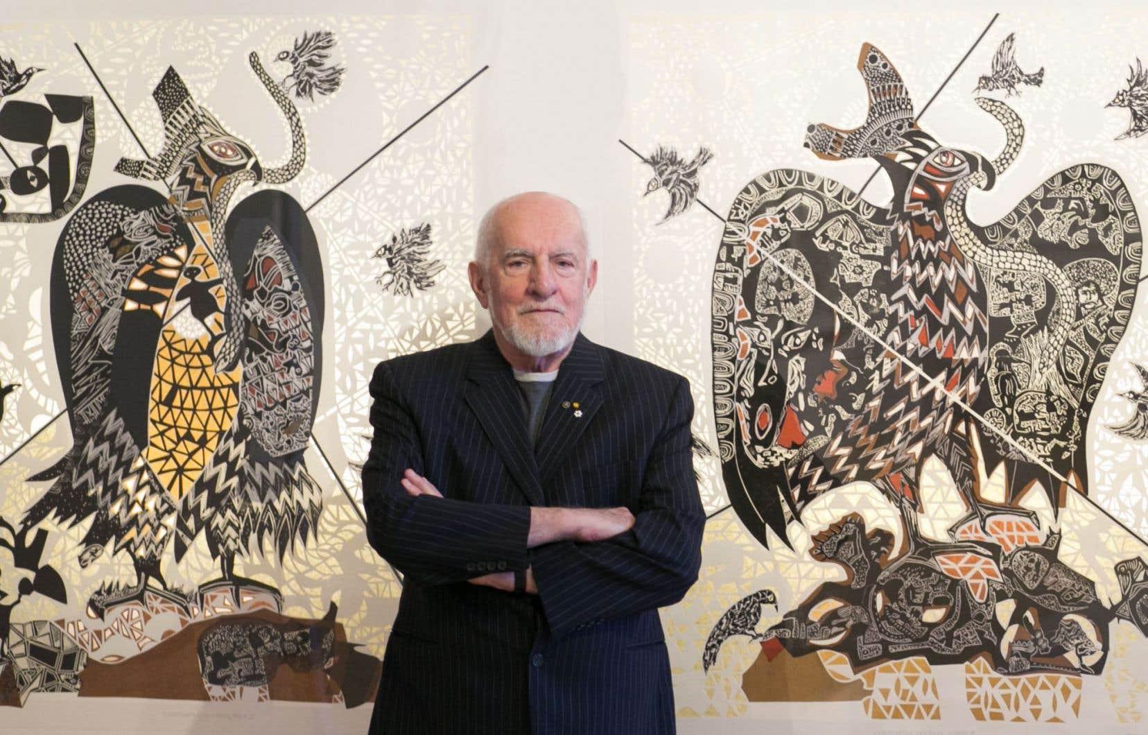 René Derouin continue de puiser dans la culture et l'histoire mexicaines pour ses créations.